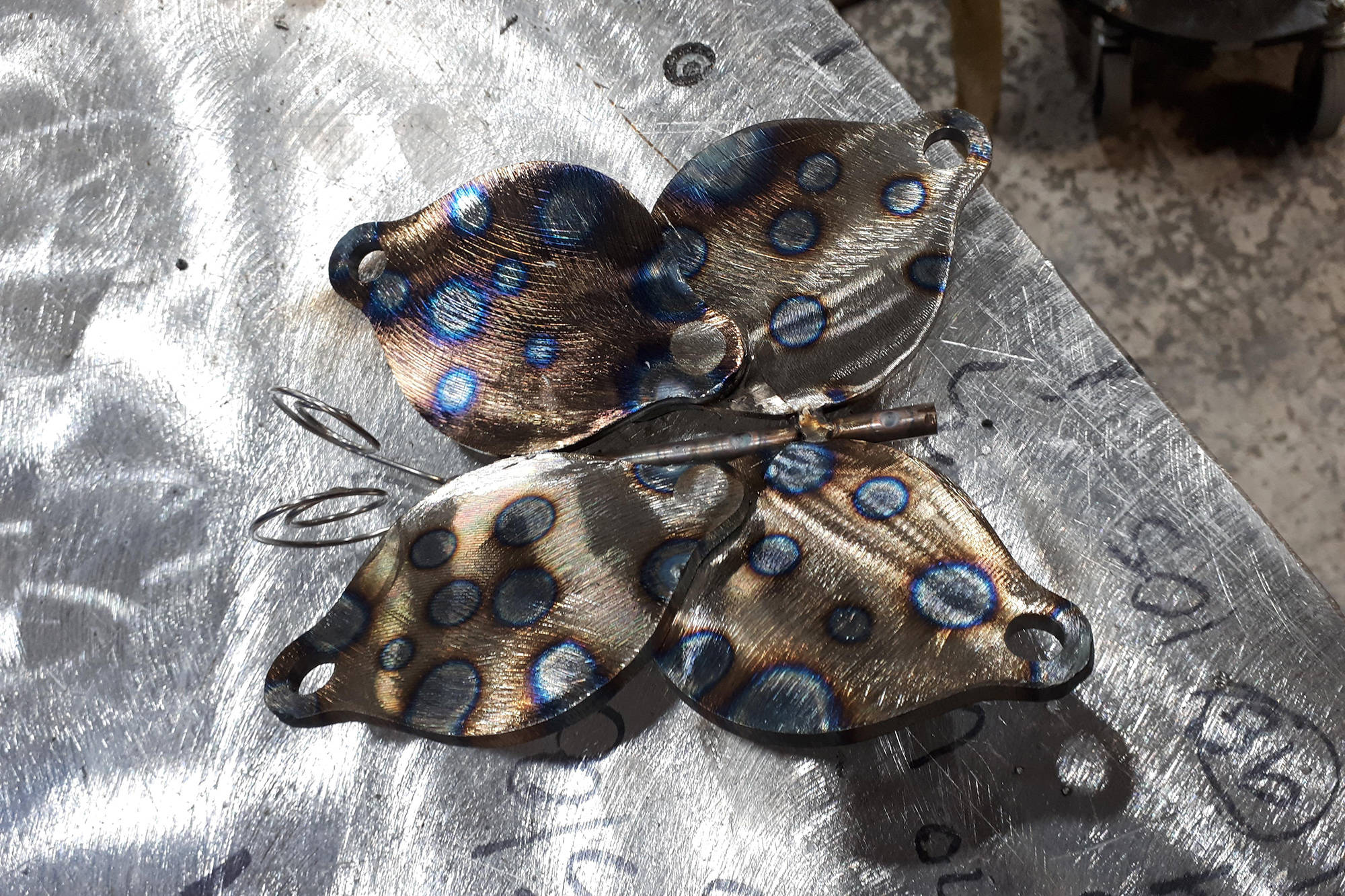 A metal butterfly created by Azurah Herbert-McMyn. (Photo submitted)